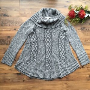 Kaisely Grey knit wool turtleneck sweater XS