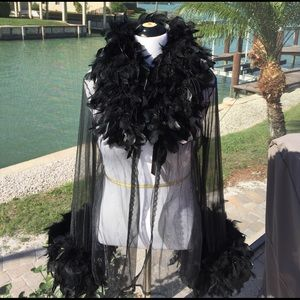 Frederick's of Hollywood Other - Fredericks Hollywood Feather jacket