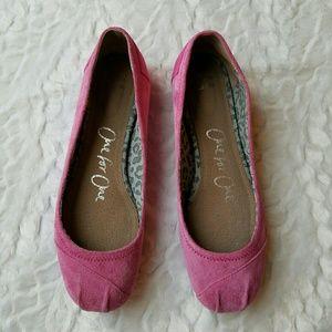 Toms Suede Pink Ballet Flats