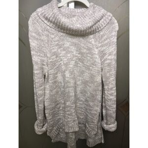 Derek Heart Sweaters - Grey knitted turtle neck long sleeve