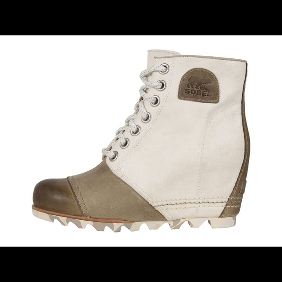 beabb70587a6 Sorel 1964 Premium Wedge Bootie in Sea salt