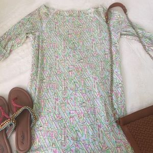 Lilly Pulitzer T-Shirt Dress - Size Small