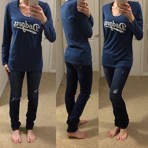 "5th & Ocean Tops - [5th&Ocean] ""LA Dodgers"" MLB long sleeve tee M⚾️"