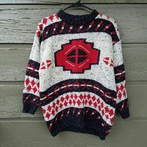 Vintage Sweaters - Vintage FABE Ethnic Oversized Sweater