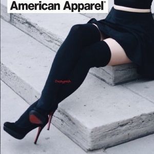 American Apparel Thigh High Socks Over The Knee