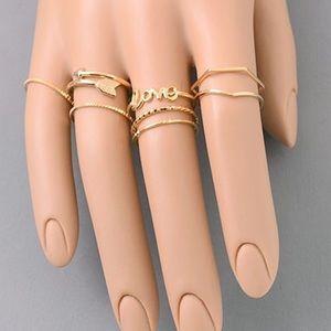 Jewelry - 💣Jessy Midi Ring Set💣