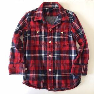 GAP Other - GAP Kids [boys] Red Flannel button down Shirt