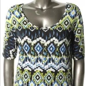 Rebellious One Tops - Rebellious One Multi Pattern Pullover Top Jrs XL