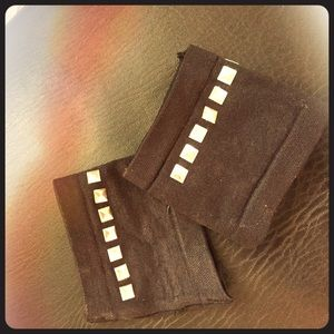 Accessories - Black Studded Fingerless Gloves
