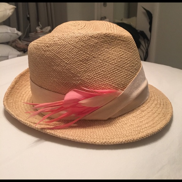 b34f89b19b1d5 Eugenia Kim Accessories - Eugenia Kim authentic fedora with pink feather
