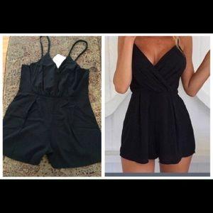 Pants - ✨Sexy Black V Neck Romper✨