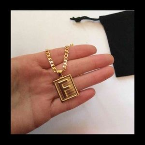 "Other - New 18k gold "" F "" necklace for men"