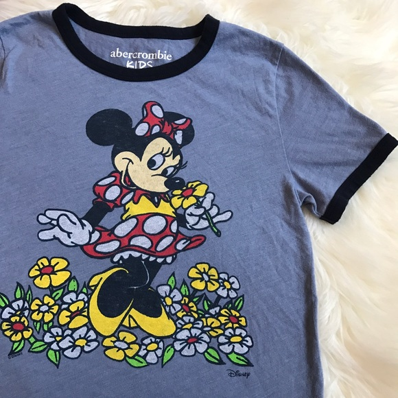 aed6fb5515d8 abercrombie kids Shirts & Tops | Disney X Minnie Mouse Ringer Tee ...