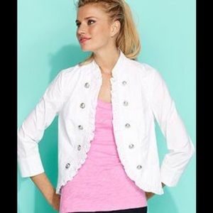 INC  Unlined Cotton Military Detail Jacket.