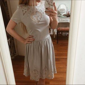 Asos Warehouse Mesh cutout dress