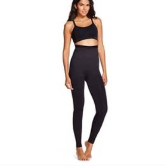 f16f6a4e5d Assets ❤ Spanx black high waisted shaping leggings