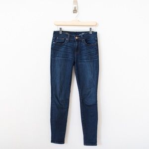 J. Crew Stretch Toothpick Jean in Miller Wash
