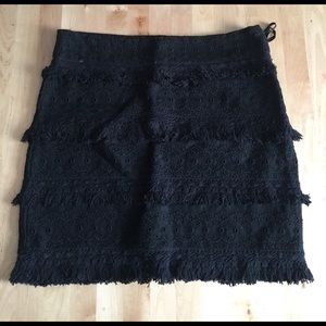 HD in Paris Black Embroidered Skirt
