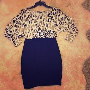 Nordstrom Dresses & Skirts - Classy Tart Cream & Navy Blue Dress from Nordstrom
