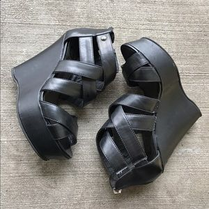 G by Guess Shoes - [G by Guess] black platform wedges 7.5