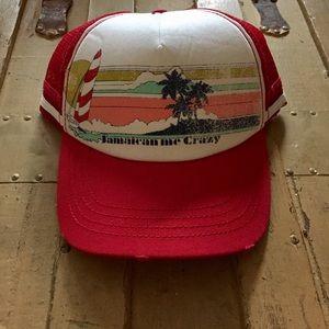 NWOT Billabong SURF BRAND red white trucker hat