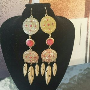 Danielle Nicole Jewelry - Bohemian Gypsy Earrings Gold Feather Pierce Design