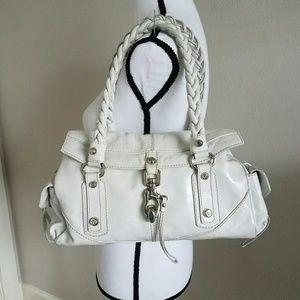 Francesco Biasia Handbags - FRANCESCO BIASIA Braided Handle White Satchel