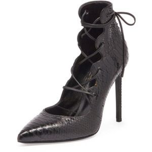 Yves Saint Laurent Shoes - Ysl Python lace up pump