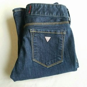 Guess Denim - Guess Mid-rise Bootcut Sarah Fit Dark Wash Jeans