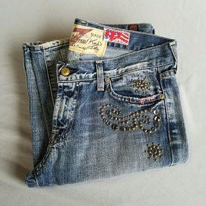 7 For All Mankind Denim - RARE 7 for All Mankind Embelished Jeans
