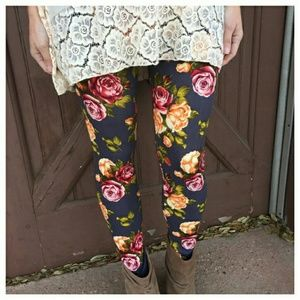 Infinity Raine Pants - NWT  CHARCOAL FLORAL PRINT LEGGINGS