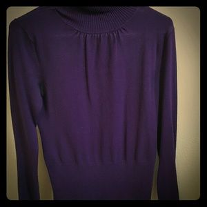 WINDSOR Sweaters - 💚 Purple turtleneck with ruche sleeves