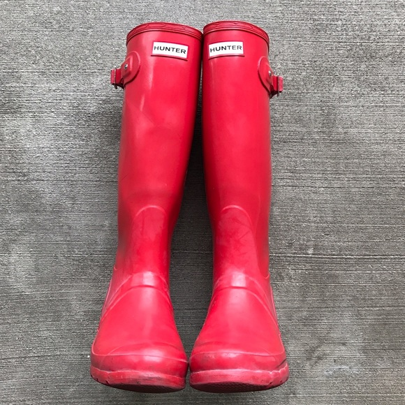 55% off Hunter Boots Shoes - [HUNTER] women's tall red rain boots ...