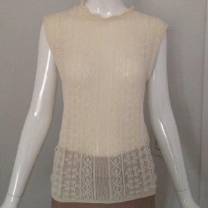 Zara Tops - Zara open knit sleeveless sweater