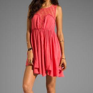 SOLD~Genuine free people coral pink Lolita dress