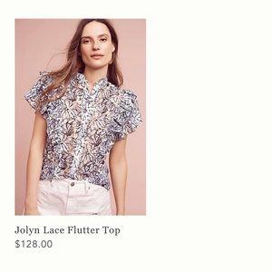 Women lace print blouse