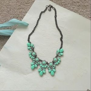 Jewelry - Mint and Silver Statement Necklace