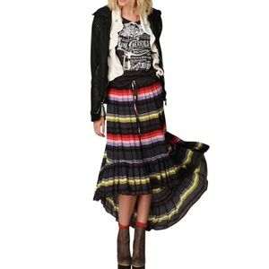 Free People Dresses & Skirts - FREE PEOPLE Classic Skirt Bohemian Patterned Long