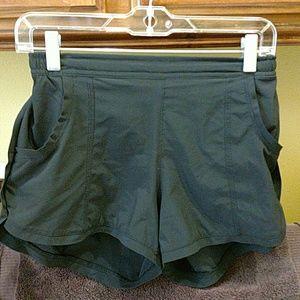 Athleta black running shorts