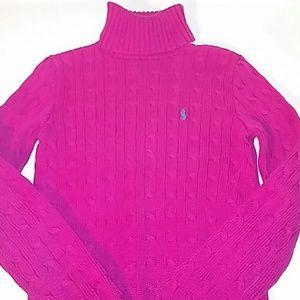 Ralph Lauren Sweaters - Ralph Lauren Sport Women M Pink Cable Knit Sweater