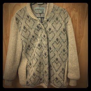 Gorgeous Vintage Wool Sweater Jacket