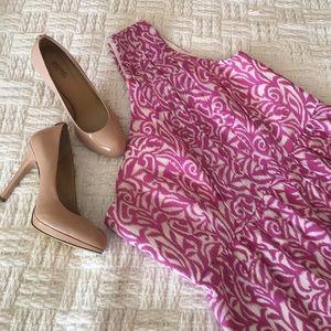 Shoshanna Dresses & Skirts - Shoshanna One-Shoulder Purple Silk Blend Dress