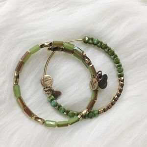 Alex & Ani Jewelry - Alex + Ani Green Beaded Energy Bracelets