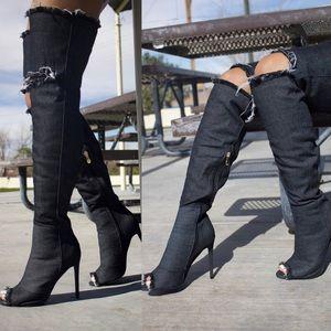 Shoes - 30% OFF SALE!        Denim Thigh High