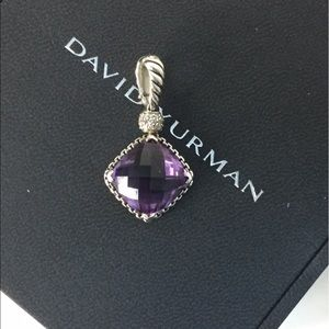 David Yurman Jewelry - LG 11mm David Yurman Cushion On Point Amethyst NEc