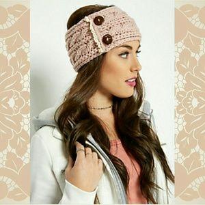 Accessories - FLASH SALE! NWOT Blush knit earwarmers