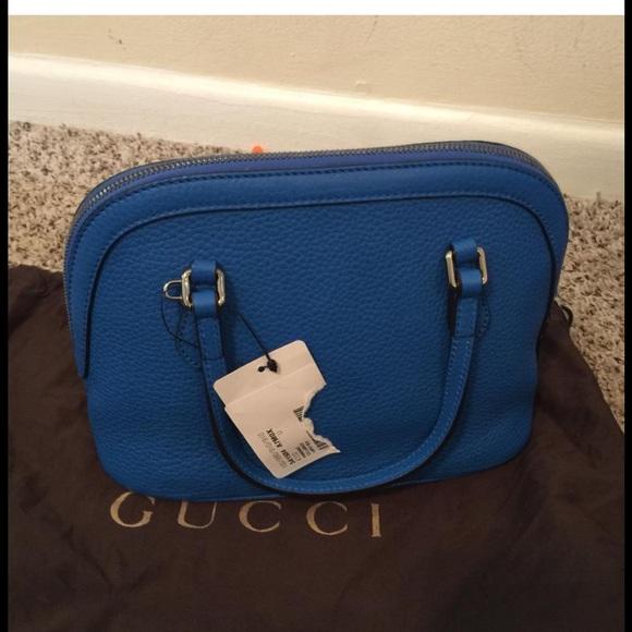 0f5de0d9be24 ❌❌NOT FOR SALE❌❌ GUCCI Blue Mini Dome Satchel NWT