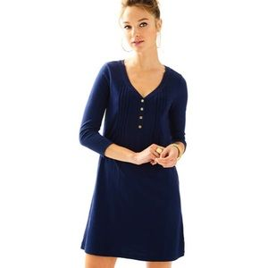 NWT Navy Amberly Swingy T-Shirt Dress