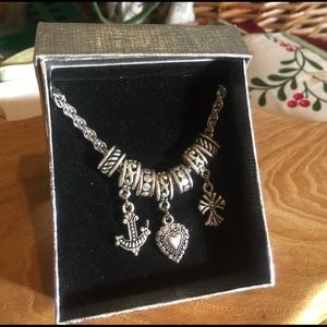 New in box silver necklace