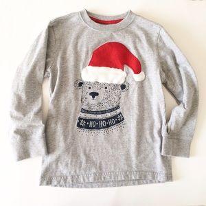 Gymboree Other - GYMBOREE [boys] Gray Bear Holiday Christmas Shirt